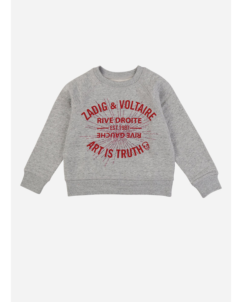Zadig & Voltaire sweat gris chine