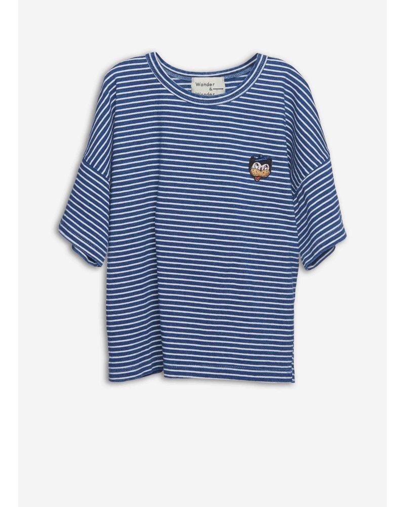 Wander & Wonder stripe badge teen denim stripe