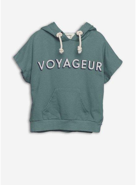 Wander & Wonder hoodie sweat top moss