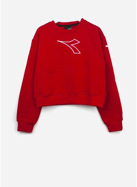 Diadora fleece tshirt girl - red