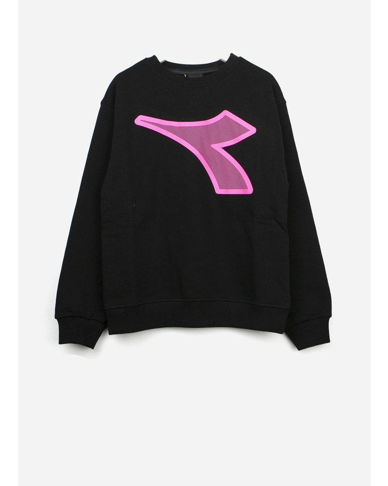 Diadora fleece tshirt girl - black