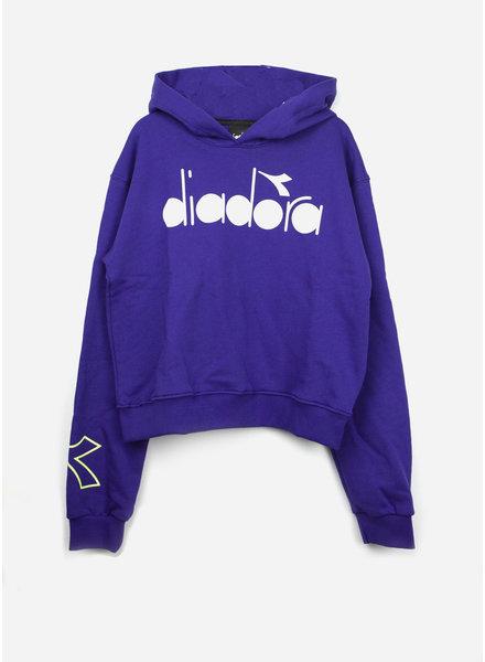 Diadora fleece tshirt girl - violet