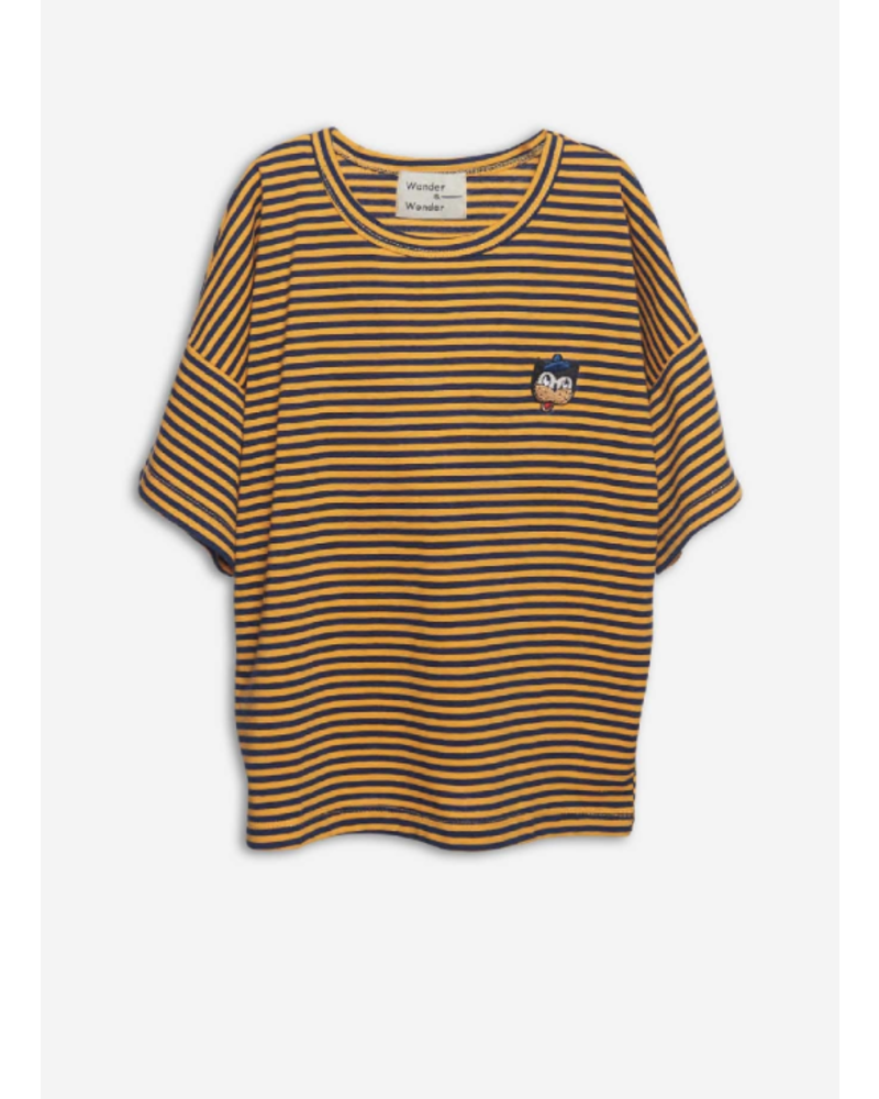Wander & Wonder stripe badge teen yellow stripe