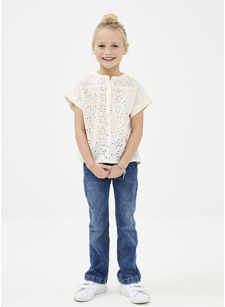 By Bar bo lace blouse - off white