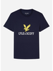 Lyle & Scott ss lyle eagle logo t-shirt navy blazer