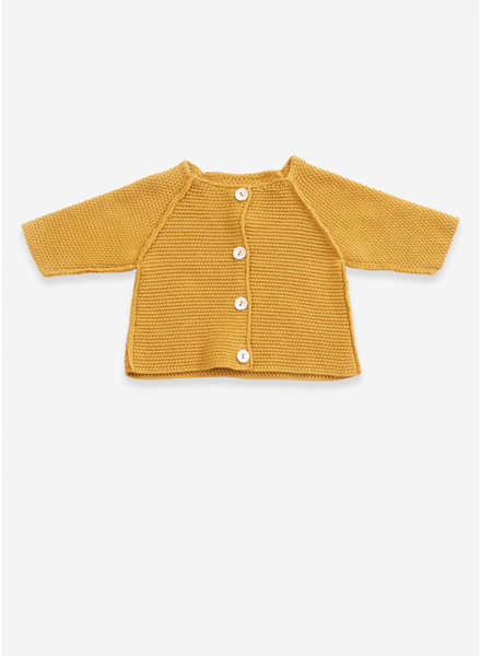 Play Up knitted jacket resin buttons sea almond