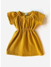 Club Cinq luna dress mustard