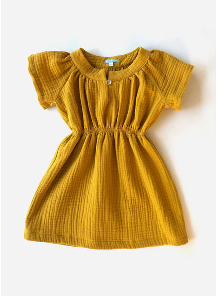 Club Cinq luna dress mustard
