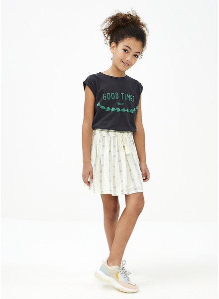 By Bar palino stripe skirt - olive