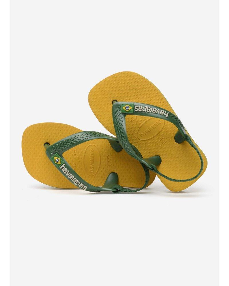 Havaianas flip flop baby brasil logo banana yellow