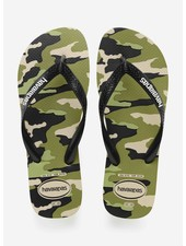 Havaianas flip flop top camu beige / black