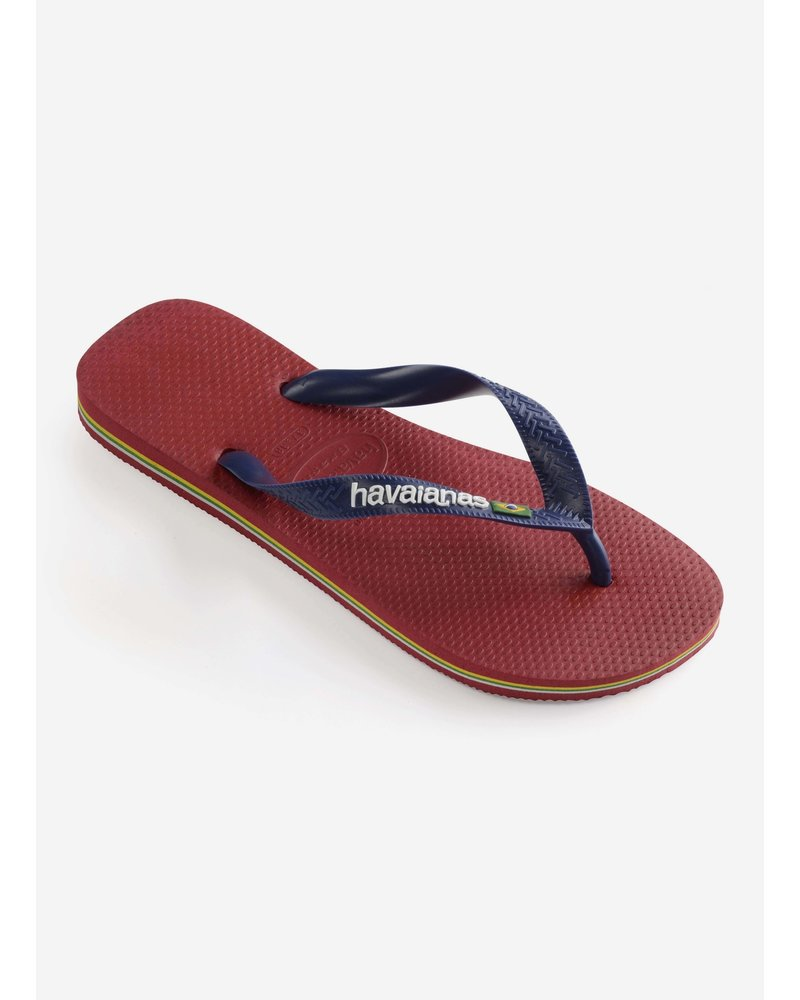 Havaianas flip flop brasil logo red