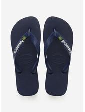 Havaianas flip flop brasil logo navy blue