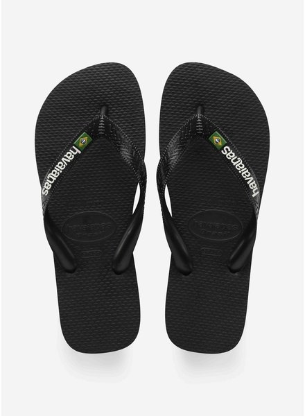 Havaianas flip flop brasil logo black