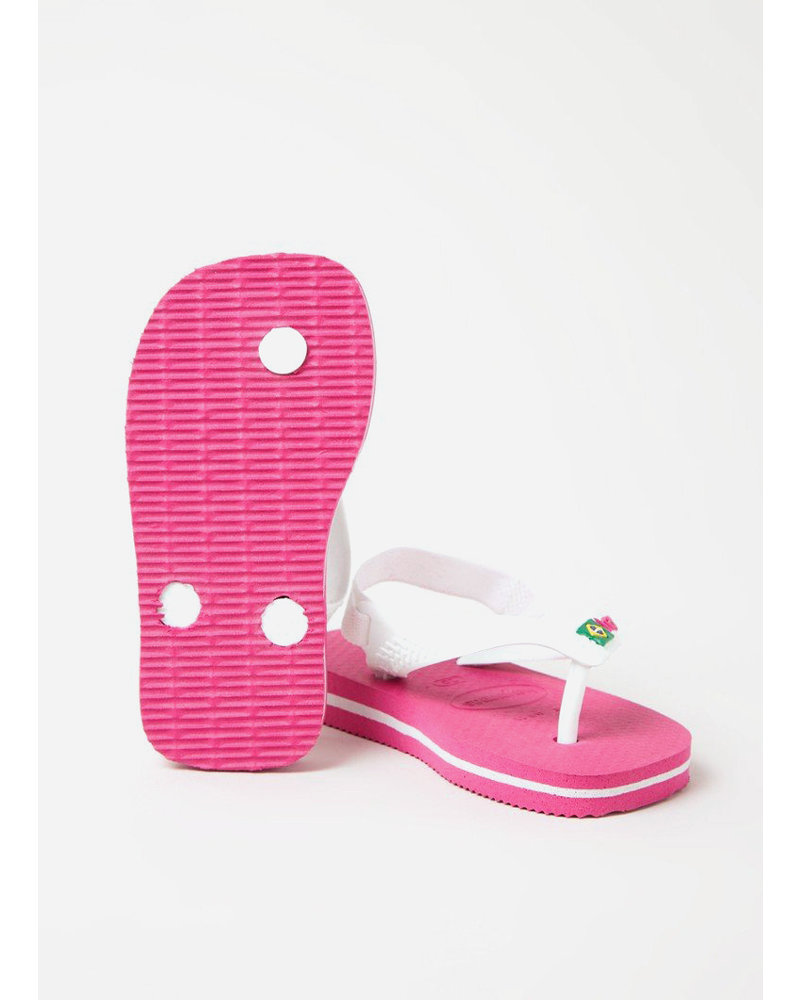 Havaianas flip flop baby brasil logo hollywood rose