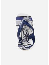 Havaianas flip flop baby chic white / navy blue