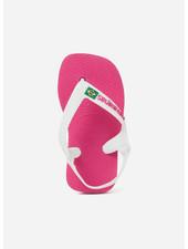 Havaianas flip flop baby brasil logo hollywood rose