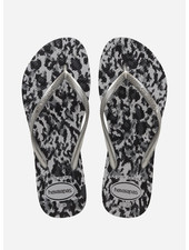 Havaianas flip flop slim animals grey silver ice