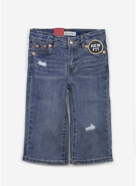 Levi's denim pants cropped wide leg aura