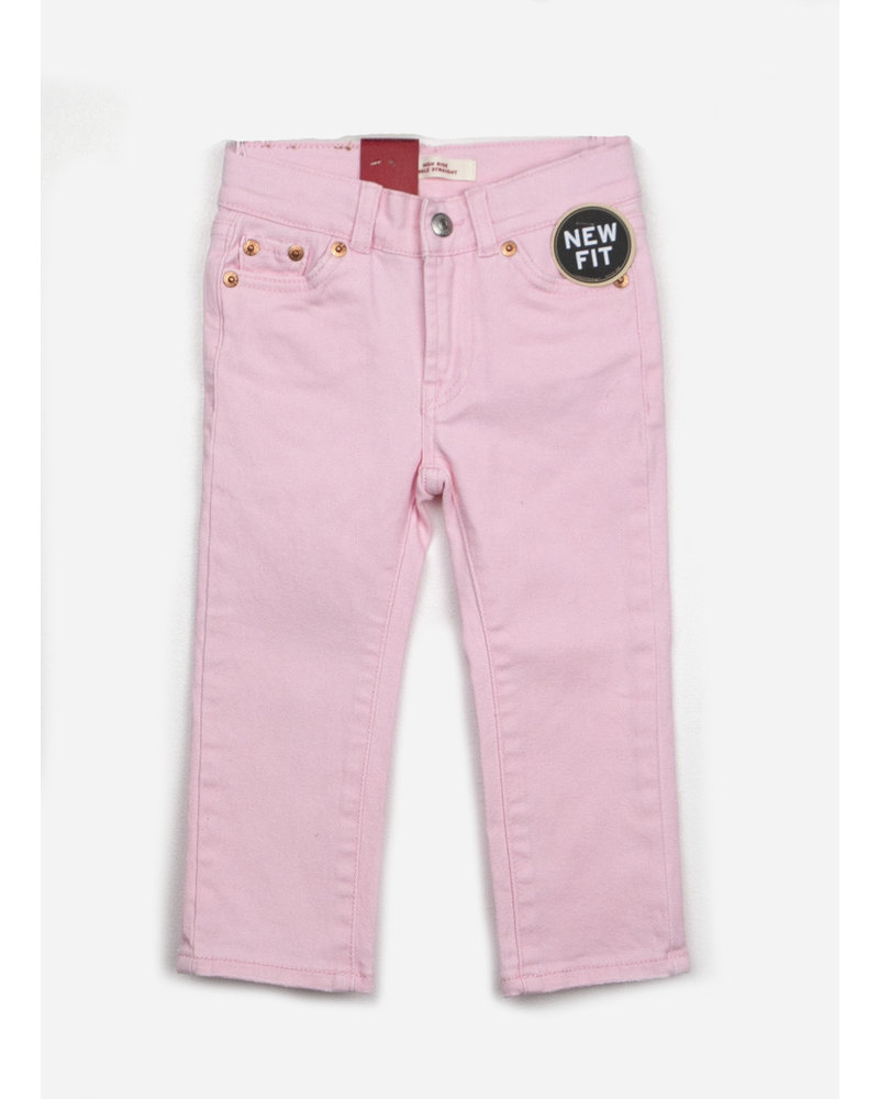 Levi's denim pants high rise ankle straight rose shadow