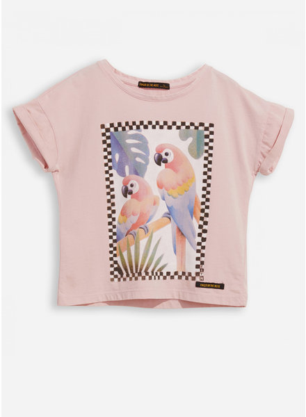 Finger in the nose new britney pale pink parrots ss t-shirt