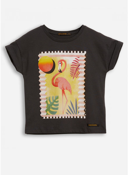Finger in the nose new britney ash black flamingo ss t-shirt