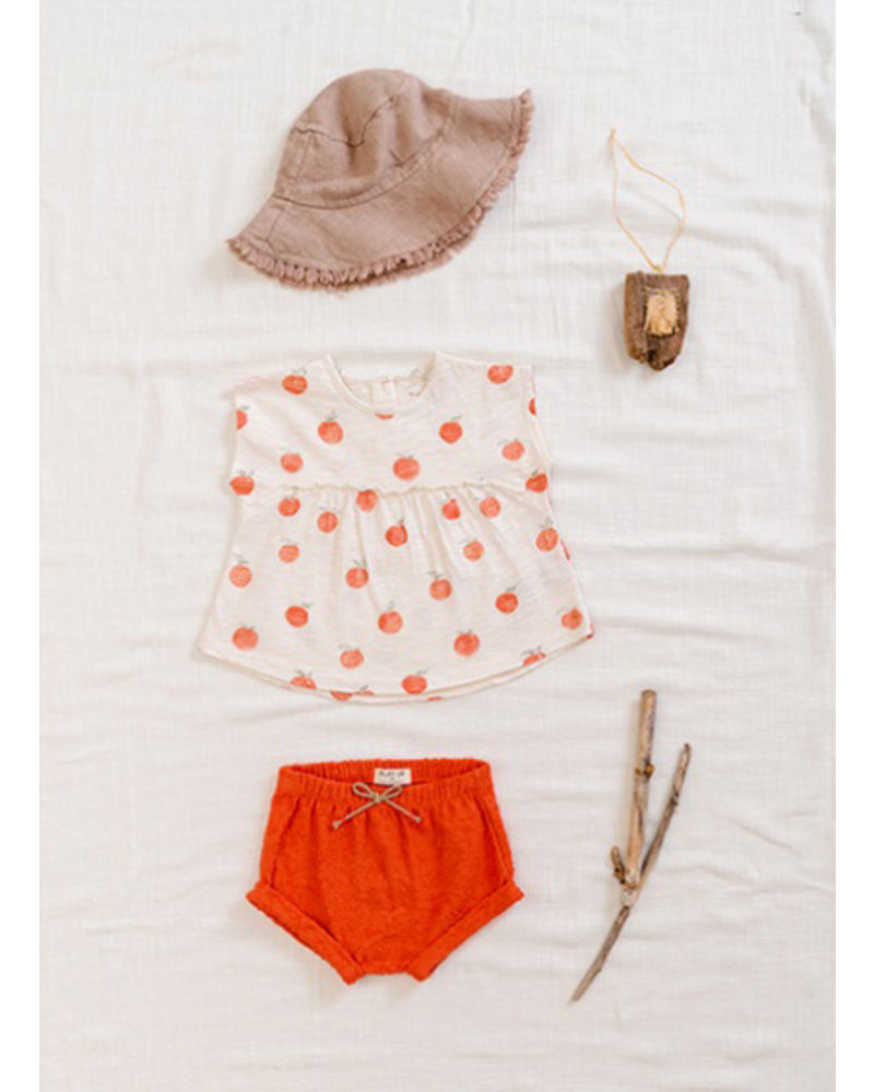 Play Up terry shorts - peach