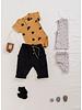 Play Up printed interlock bodysuit - raffia