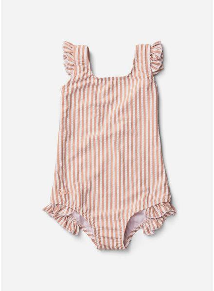 Liewood tanna swimsuit coral blush creme de la creme