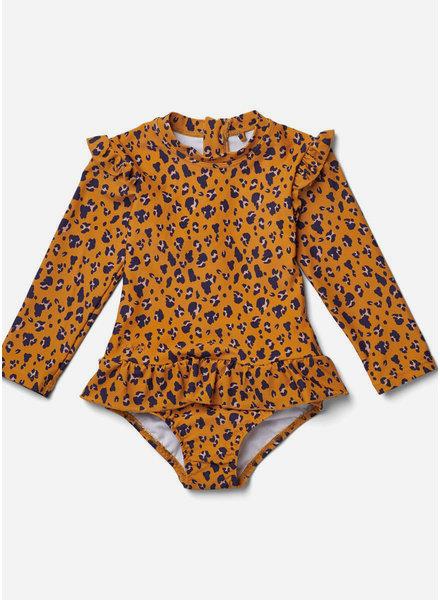 Liewood sille swim jumpsuit mini leo mustard