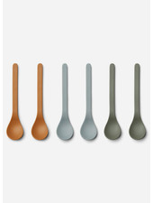 Liewood etsu bamboo spoon - 6 pack blue multi mix