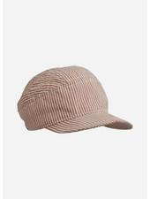 Liewood charles soft cap stripe dark rose/ecru