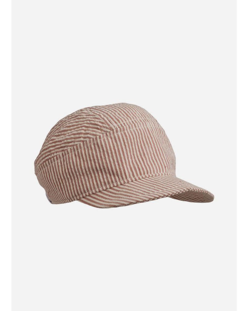 Liewood charles soft cap stripe dark rose/ecru