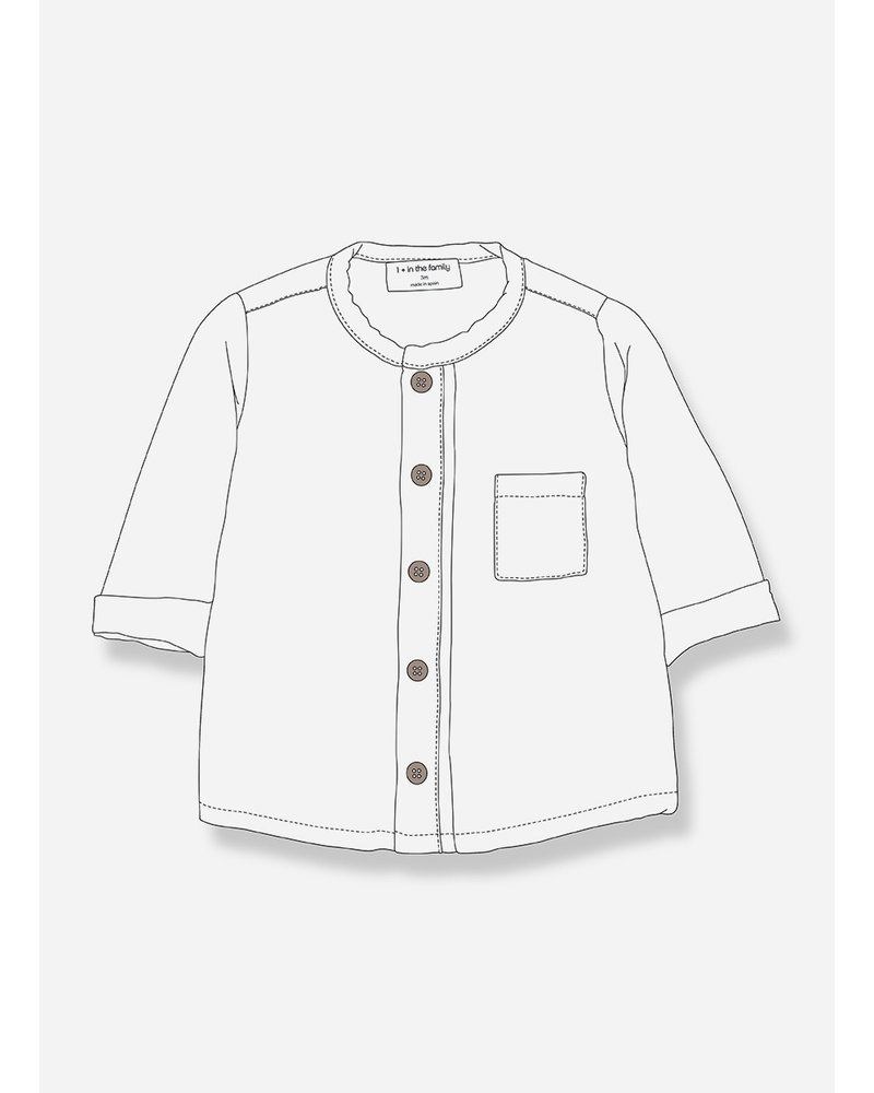 1+ In The Family custo shirt offwhite