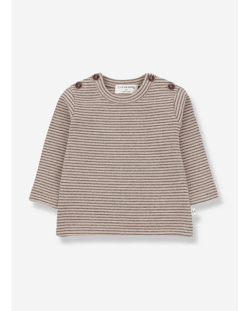 1+ In The Family jasper t-shirt rose/terrau