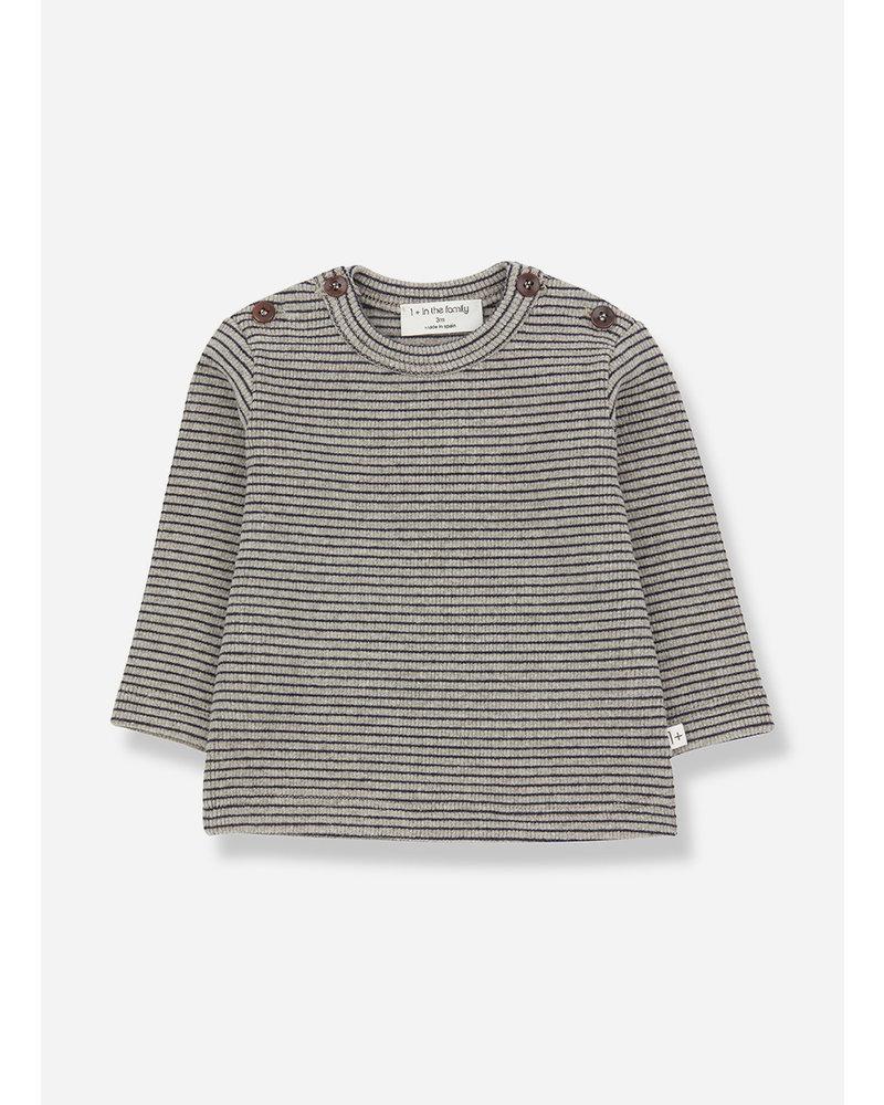 1+ In The Family jasper t-shirt beige/bluenotte