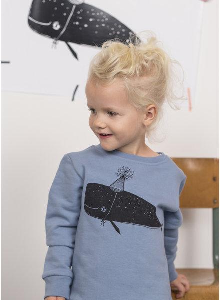 Pomme de Jus sweater whale faded denim