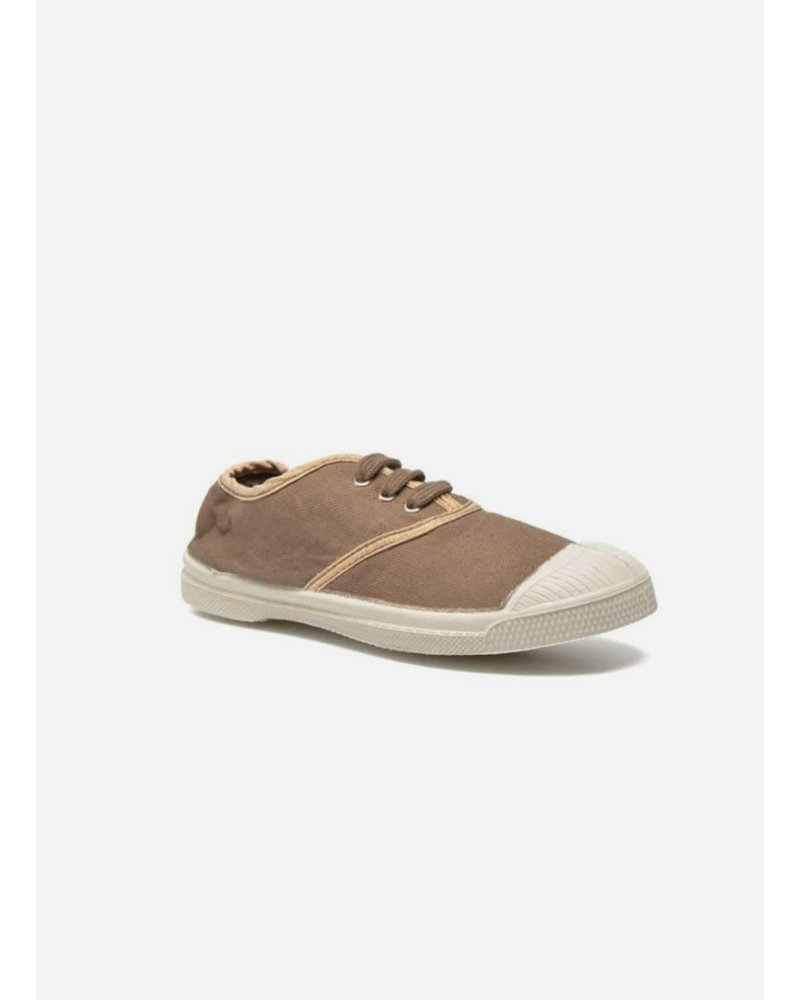 Bensimon kid lace tennis cuivre beige