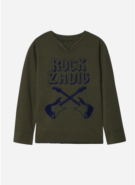 Zadig & Voltaire tee shirt kaki rock