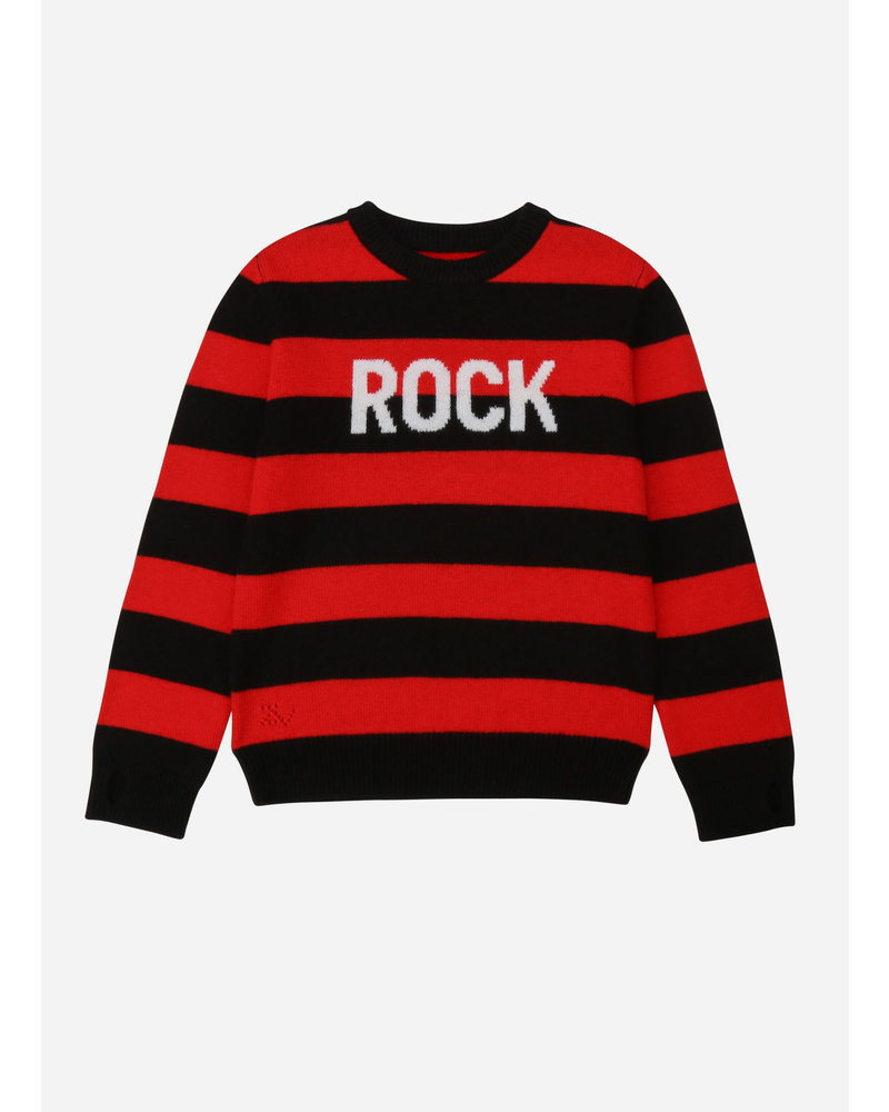 Zadig & Voltaire pull tricot zwart rood