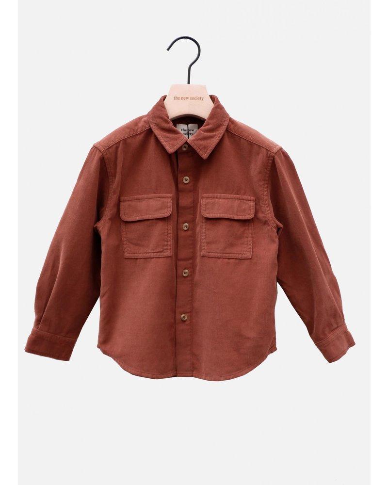 The New Society bambi pocket shirt caramel