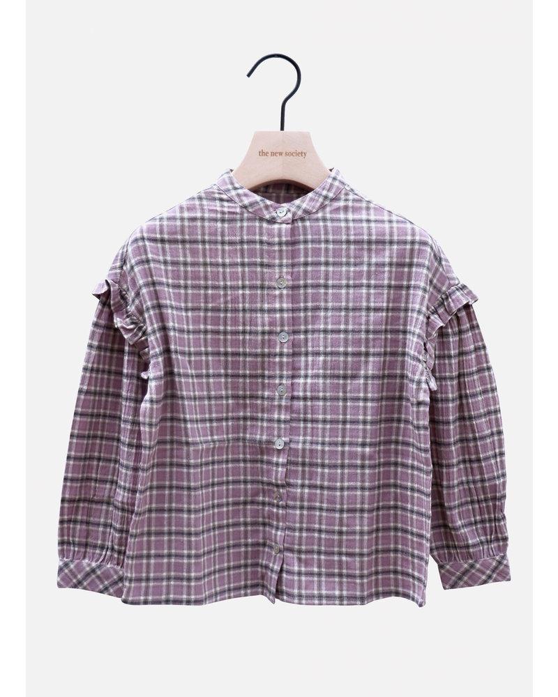The New Society bella blouse check lavenda