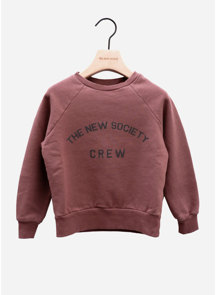 The New Society crew sweater rose taupe