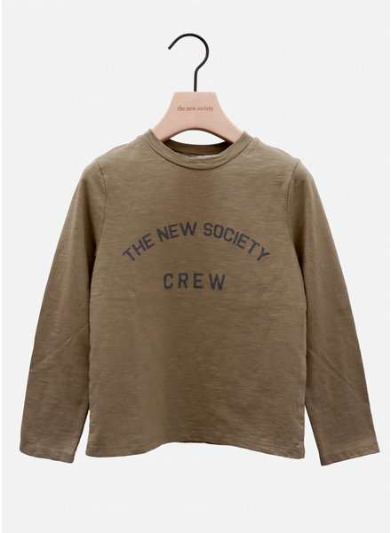 The New Society crew tee kakhi