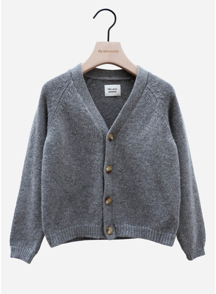 The New Society jolene knit jacket grey melange