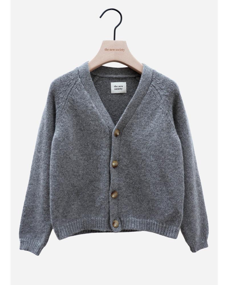 The New Society jolene knit jacket grey melange