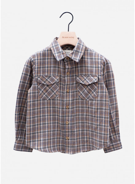 The New Society milosh shirt check soft blue