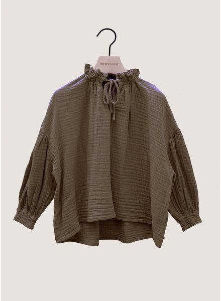 The New Society olivia blouse kakhi