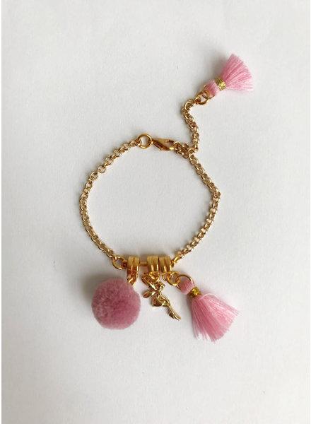 ByMelo gouden armband engel