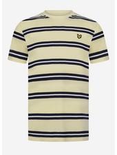 Lyle & Scott wide double stripe t-shirt french vanilla